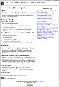 screen shot of standard home page version