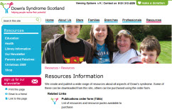 Picture of Resources Page. Shows disproportionately-large header image.